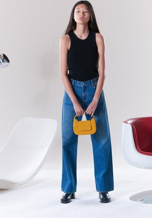 Mini Retro Bag in Saturn Yellow by Simon Miller - 2