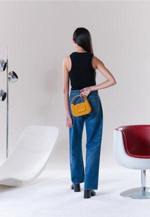Mini Retro Bag in Saturn Yellow by Simon Miller - 3