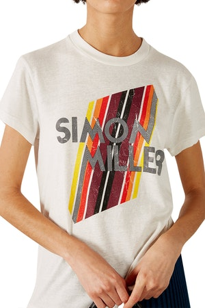 Mesa Graphic Fitted Tee in White by Simon Miller - 1