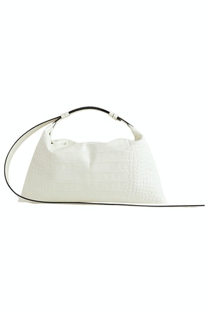 Puffin Bag in White Croc by Simon Miller - 1