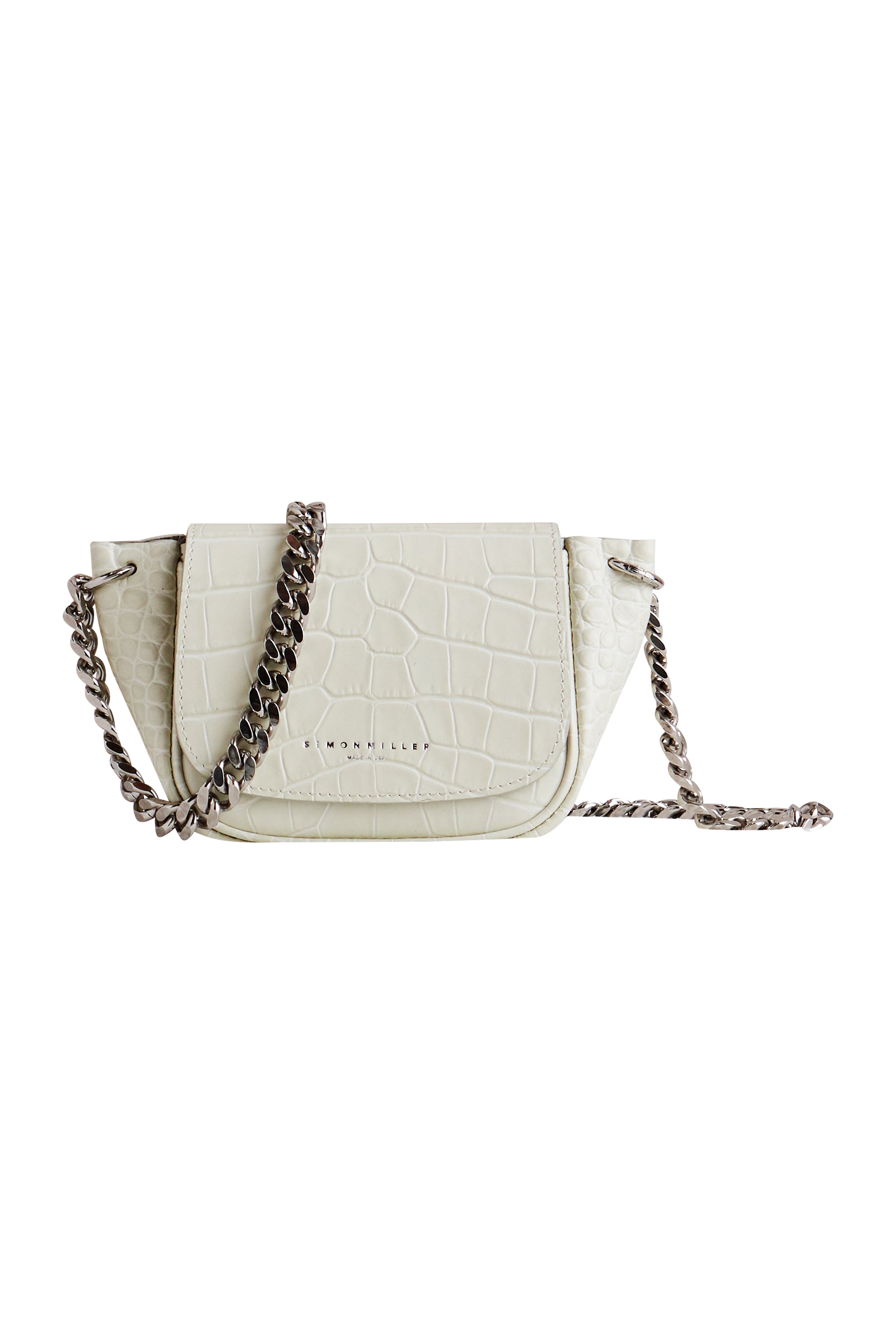 Mini Bend Bag in White Croc by Simon Miller - 1