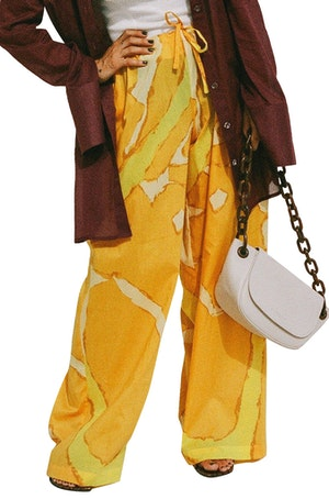 Brickell Drawstring Pant in Yellow Abstract Print by Simon Miller - 1