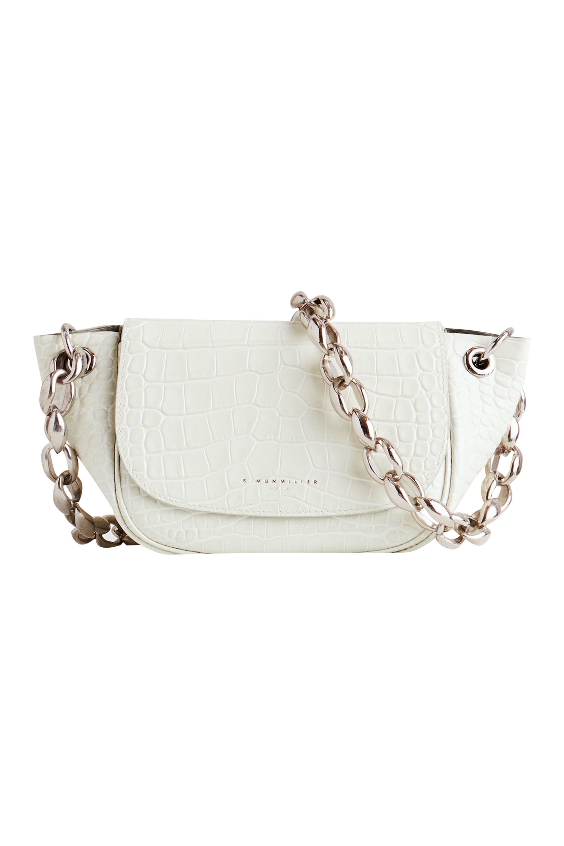 Bend Bag in White Croc by Simon Miller - 1