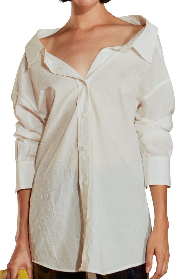 Tabor Shirt in White by Simon Miller - 1