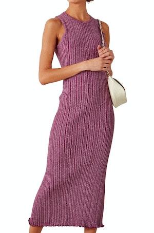 Benny Rib Tank Dress in Purple Disco by Simon Miller - 1