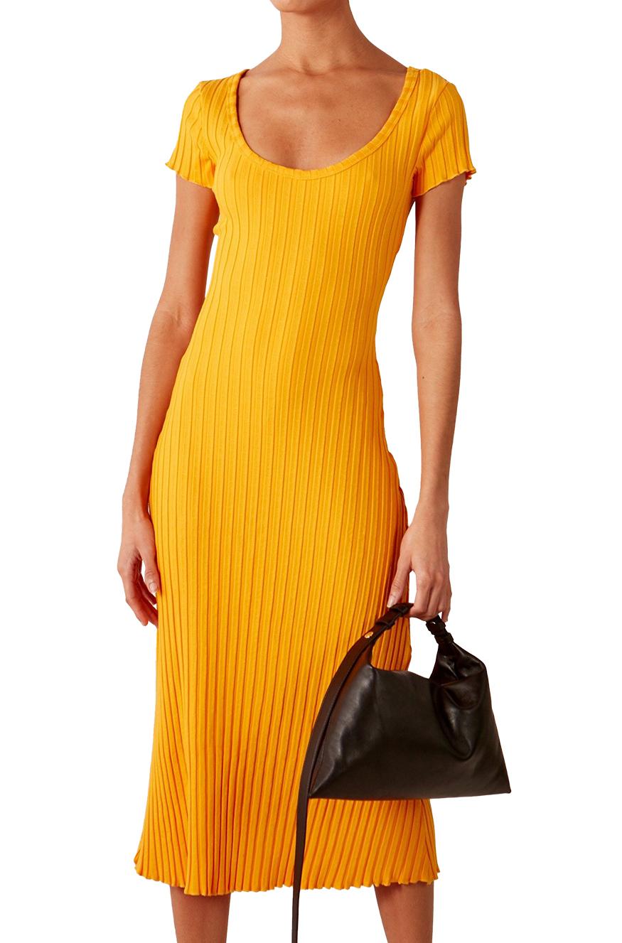 RIB Andros Dress in Sunset Orange by Simon Miller - 1