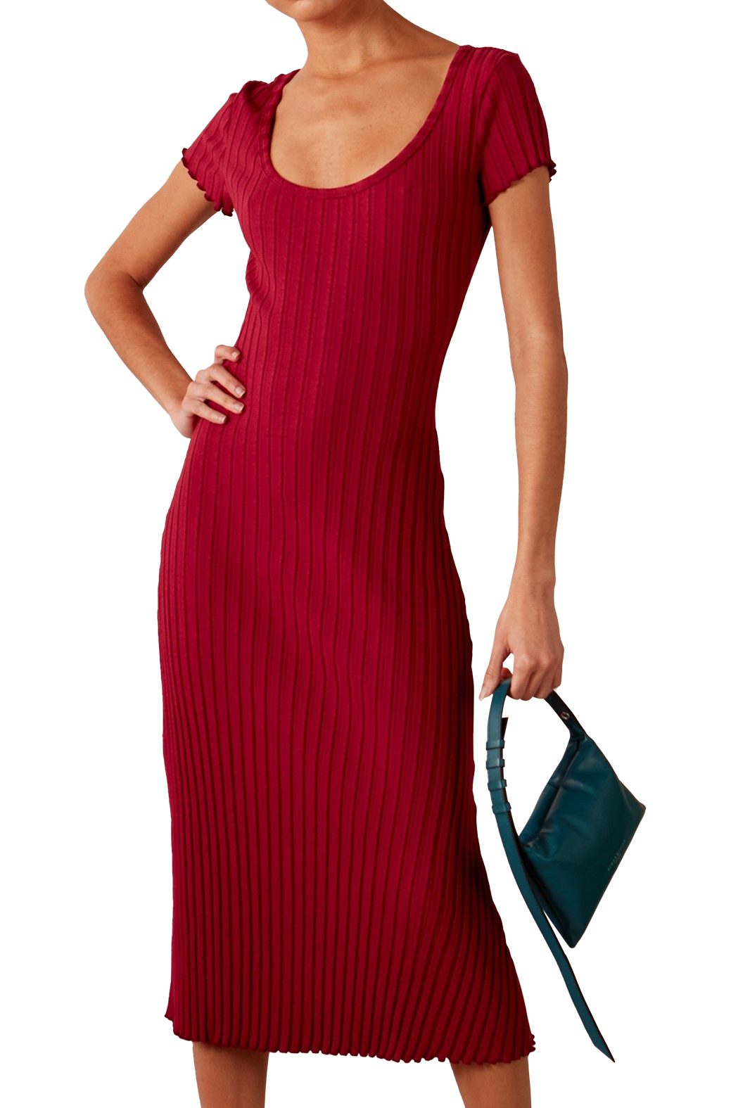 RIB Andros Dress in Rumba Red by Simon Miller - 1