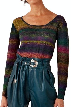 Amo Scoop Neck Sweater in Sawada Powder-Teal by Simon Miller - 1