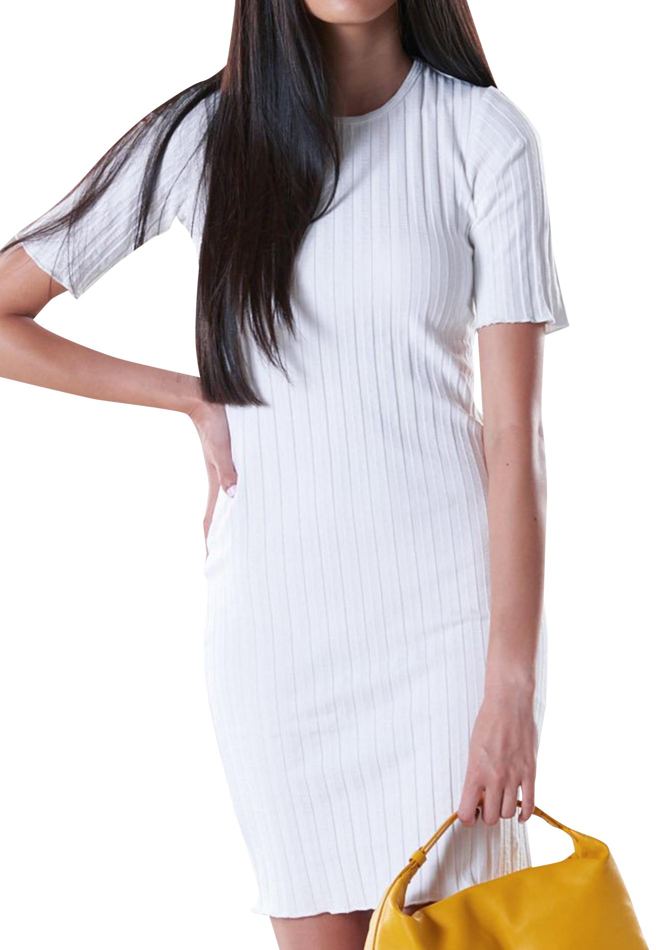 RIB Capo Short Dress in Macadamia by Simon Miller - 1