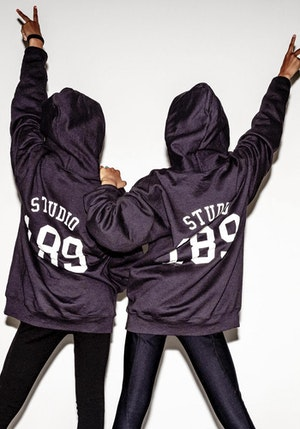 Black Cotton S189 Hooded Sweatshirt by Studio 189 - 1
