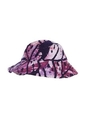 Lilac Leaf Cotton Hand-Batik Large Hat by Studio 189 - 1