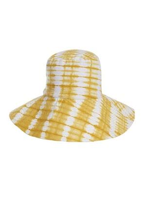 Yellow Ayumi Cotton Hand-Batik Large Hat by Studio 189 - 1