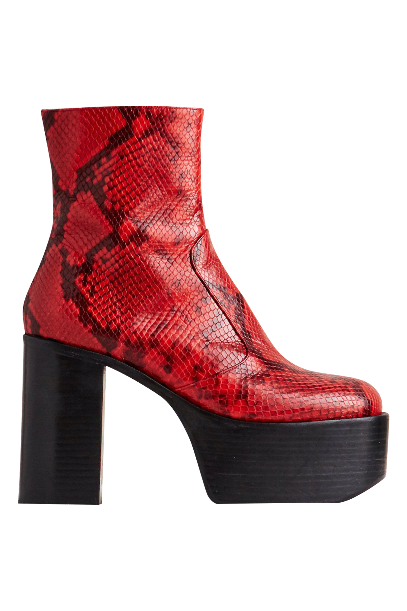 High Raid Boot in Tango Red by Simon Miller - 1