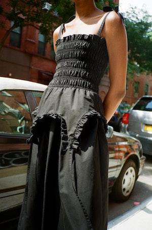 Aisle Dress in Black by Sandy Liang - 2
