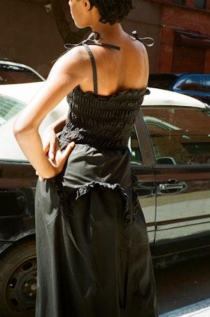Aisle Dress in Black by Sandy Liang - 5