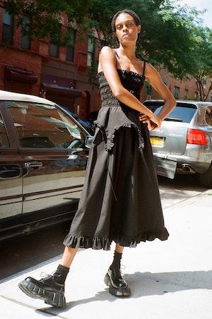 Aisle Dress in Black by Sandy Liang - 4