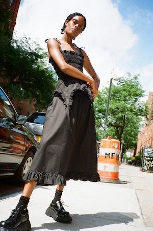 Aisle Dress in Black by Sandy Liang - 3