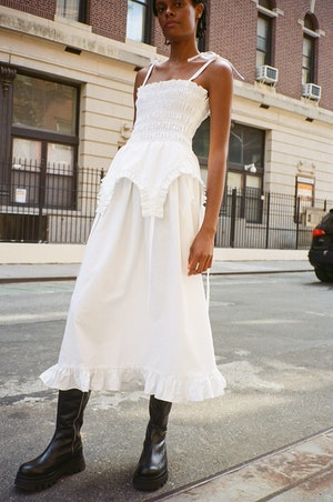 Aisle Dress in White by Sandy Liang - 2