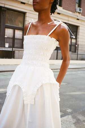 Aisle Dress in White by Sandy Liang - 4