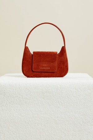 Retro Bag in Rust Suede by Simon Miller - 2