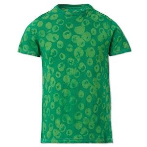 Green Bubble Dots Cotton Hand-Batik S189 T-shirt by Studio 189 - 1