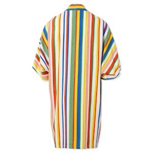 Technicolor Rainbow Striped Silk Dream Midi Kimono by Studio 189 - 2