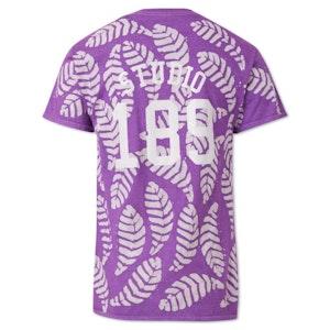 Lilac Small Leaf Cotton Hand-Batik T-Shirt by Studio 189 - 2