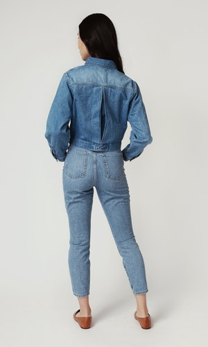 Cropped Denim Jacket by Triarchy - 3