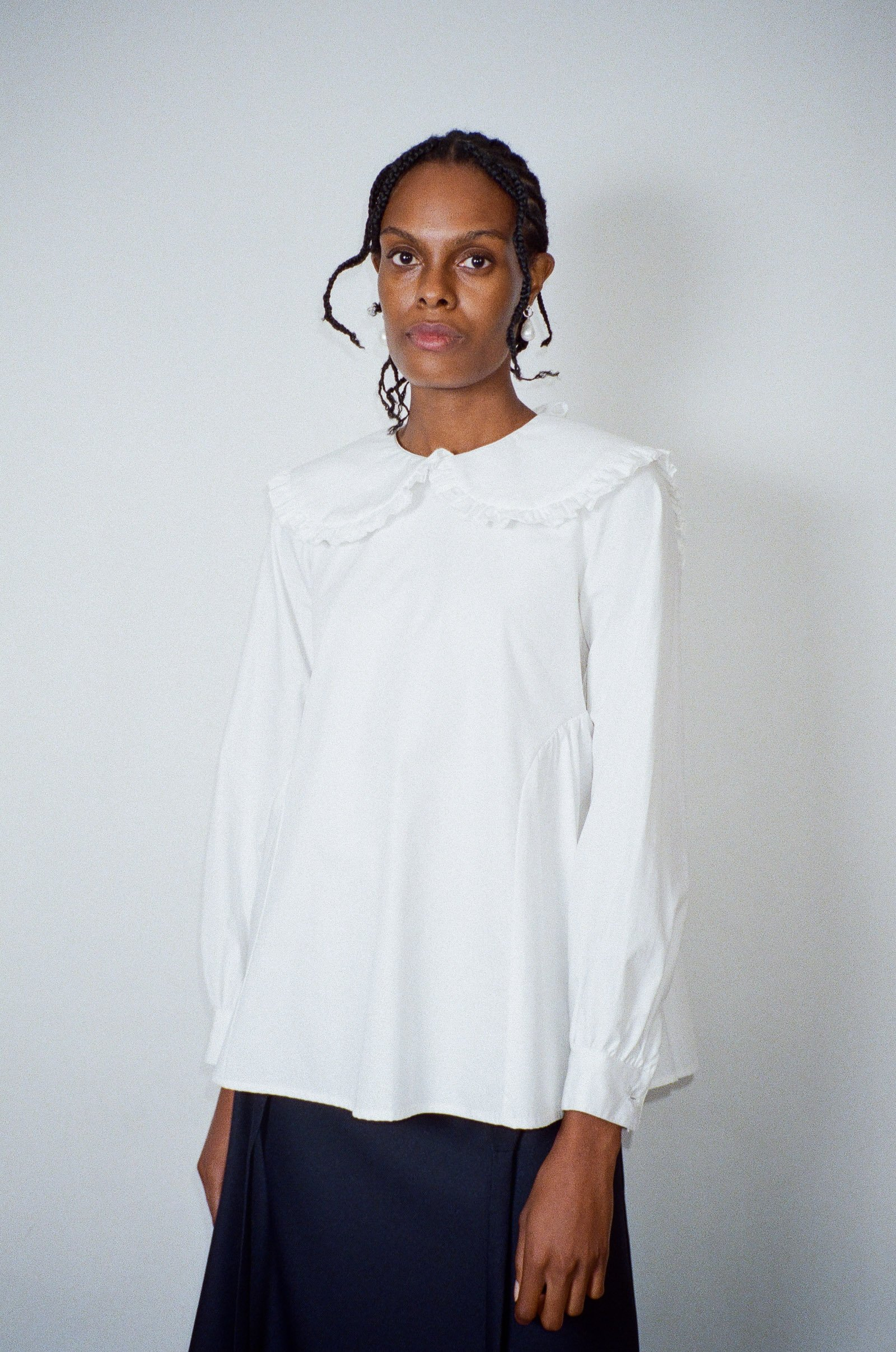 Laurie Top in White by Sandy Liang - 4