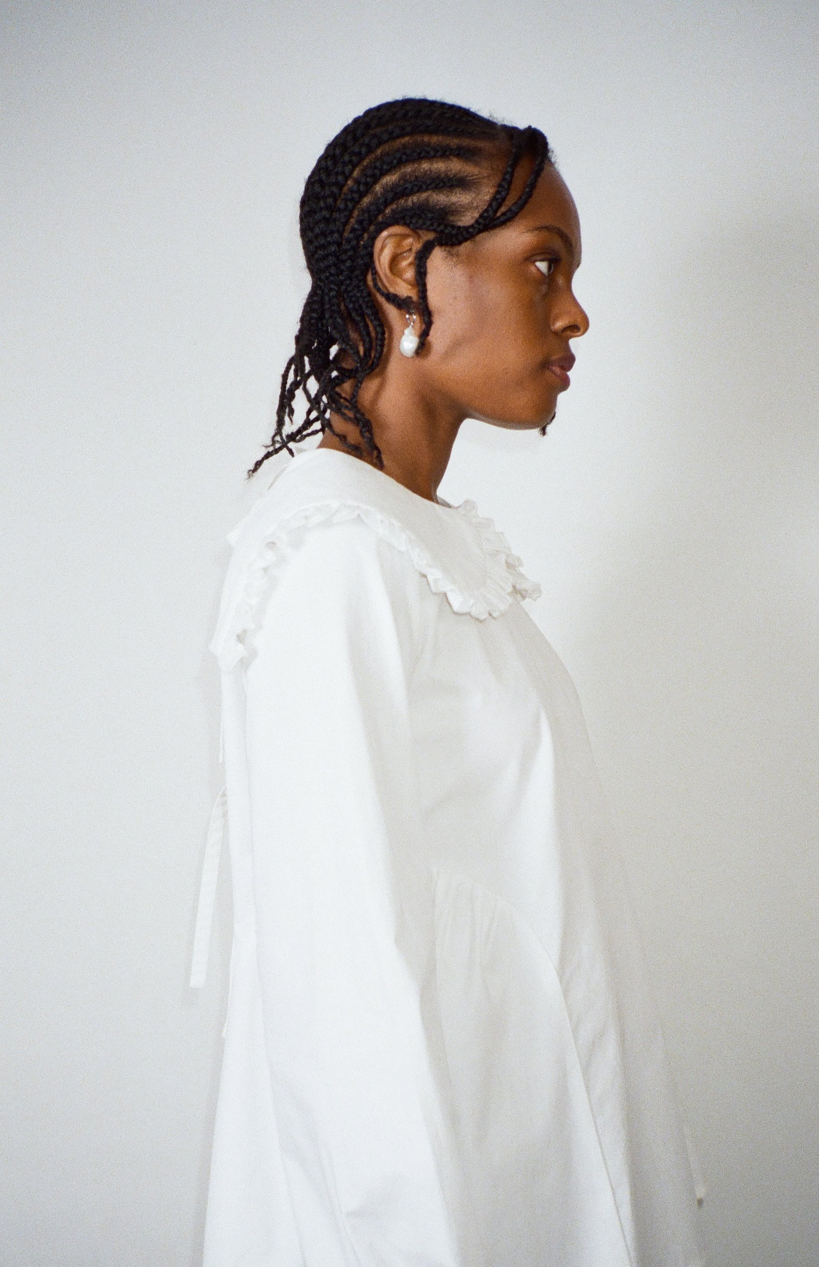 Laurie Top in White by Sandy Liang - 3