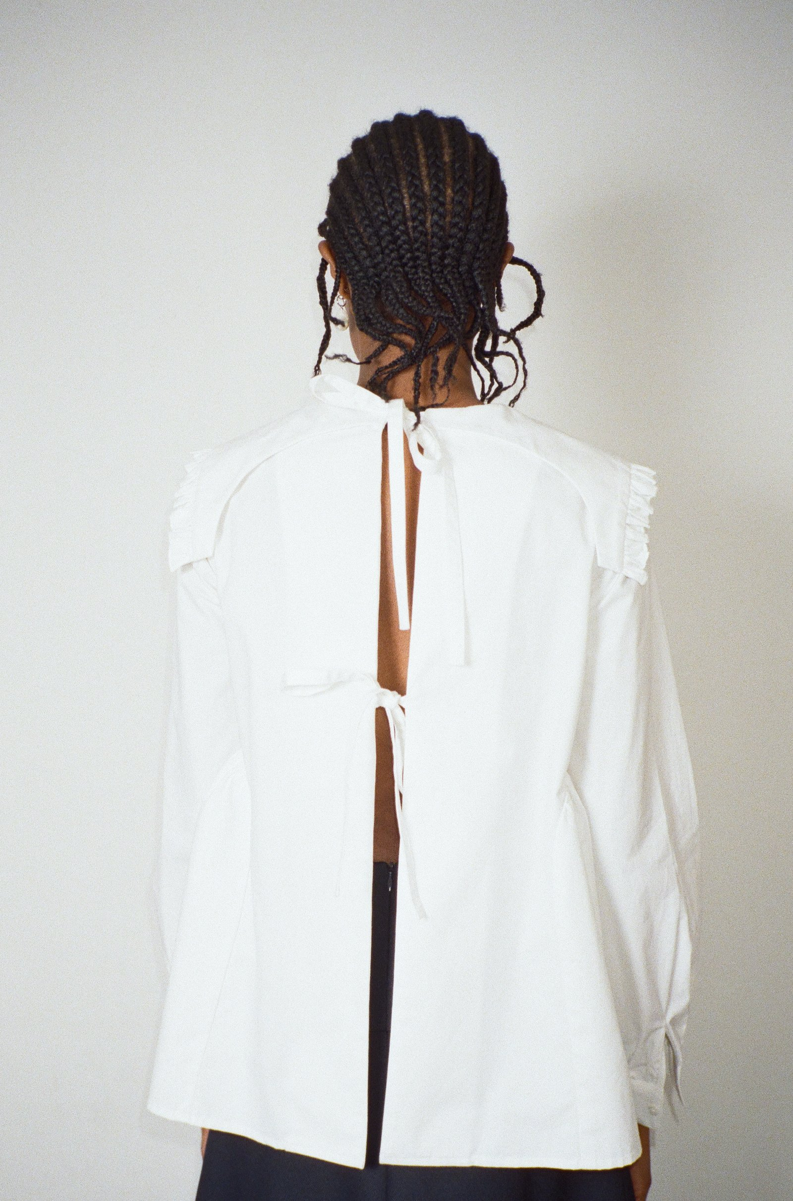 Laurie Top in White by Sandy Liang - 2
