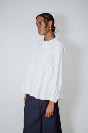 Laurie Top in White by Sandy Liang - 5