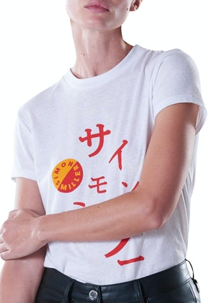Mesa Graphic Fitted Tee in Japanese Print by Simon Miller - 1
