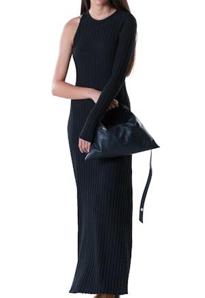 RIB Knoll Dress in Black by Simon Miller - 1