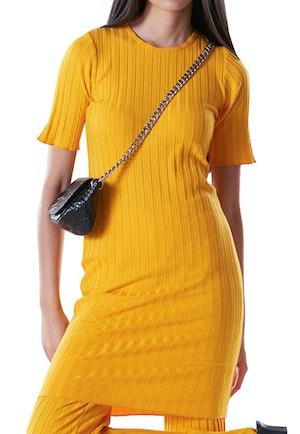 RIB Capo Short Dress in Sunset Orange by Simon Miller - 1