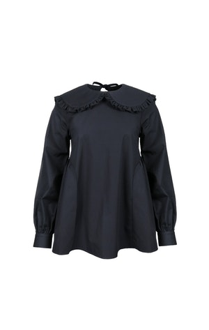 Laurie Top in Black by Sandy Liang - 1
