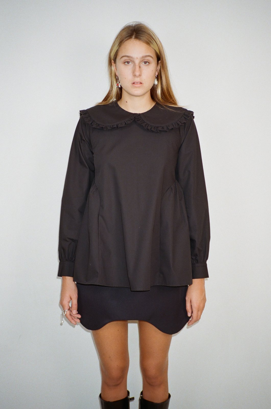 Laurie Top in Black by Sandy Liang - 3
