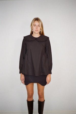 Laurie Top in Black by Sandy Liang - 4