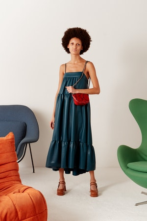 Pumpa Dress in Octane Teal by Simon Miller - 5