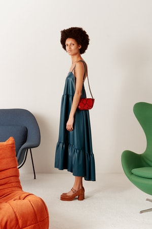 Pumpa Dress in Octane Teal by Simon Miller - 3