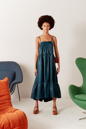 Pumpa Dress in Octane Teal by Simon Miller - 4