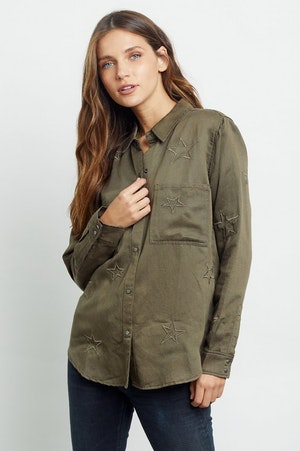 MARCEL - OLIVE EMBROIDERED STARS by Rails - 3