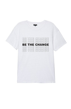 MEN'S BE THE CHANGE TEE - WHITE by Rails - 1