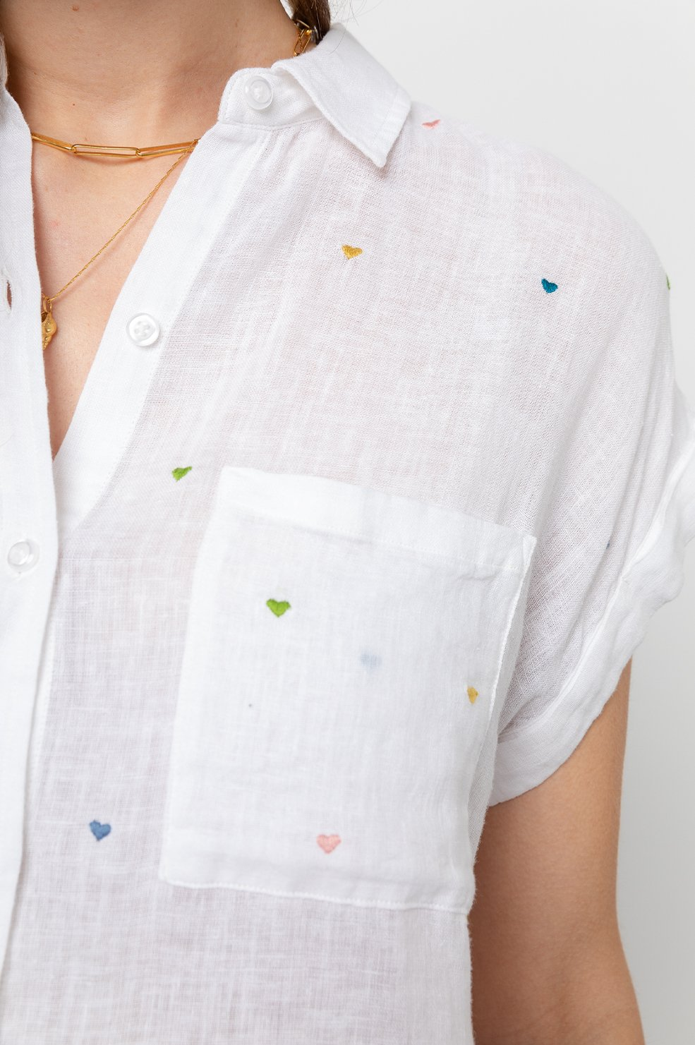 WHITNEY - WHITE EMBROIDERED HEARTS by Rails - 4
