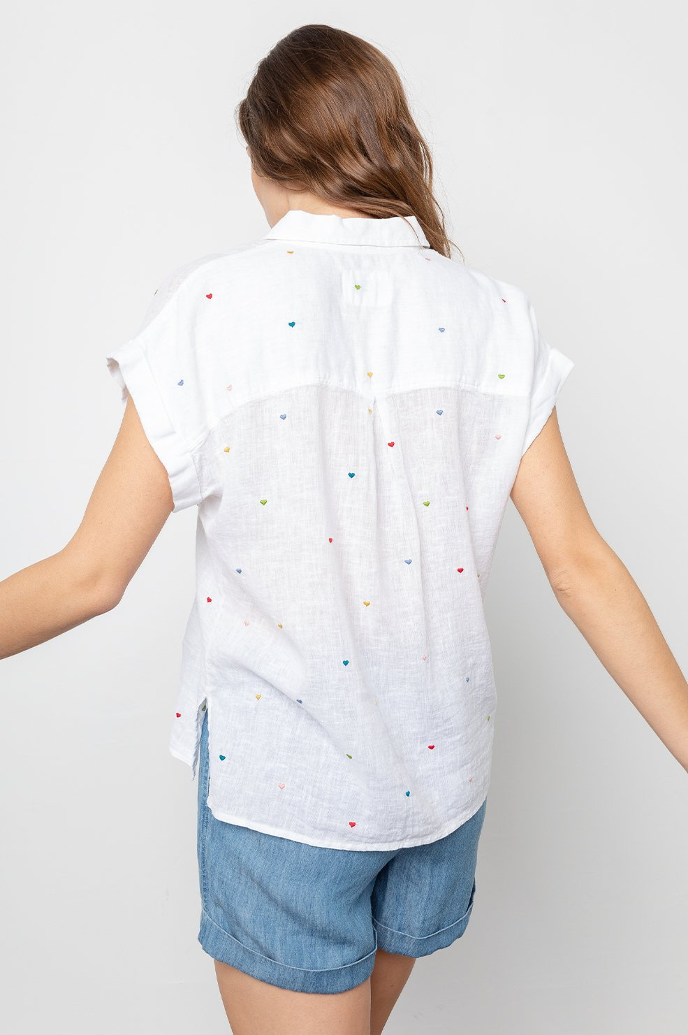 WHITNEY - WHITE EMBROIDERED HEARTS by Rails - 2