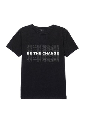 WOMEN'S BE THE CHANGE TEE - BLACK by Rails - 1