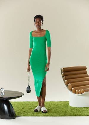 STRETCH Mies Dress in Jungle Green by Simon Miller - 2
