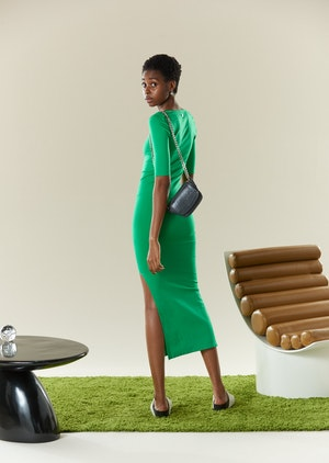 STRETCH Mies Dress in Jungle Green by Simon Miller - 3