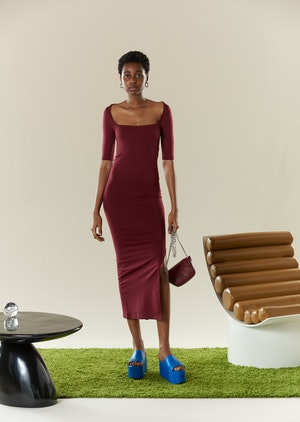 STRETCH Mies Dress in Burgundy by Simon Miller - 2