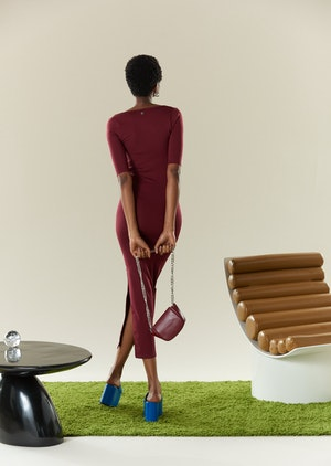 STRETCH Mies Dress in Burgundy by Simon Miller - 3